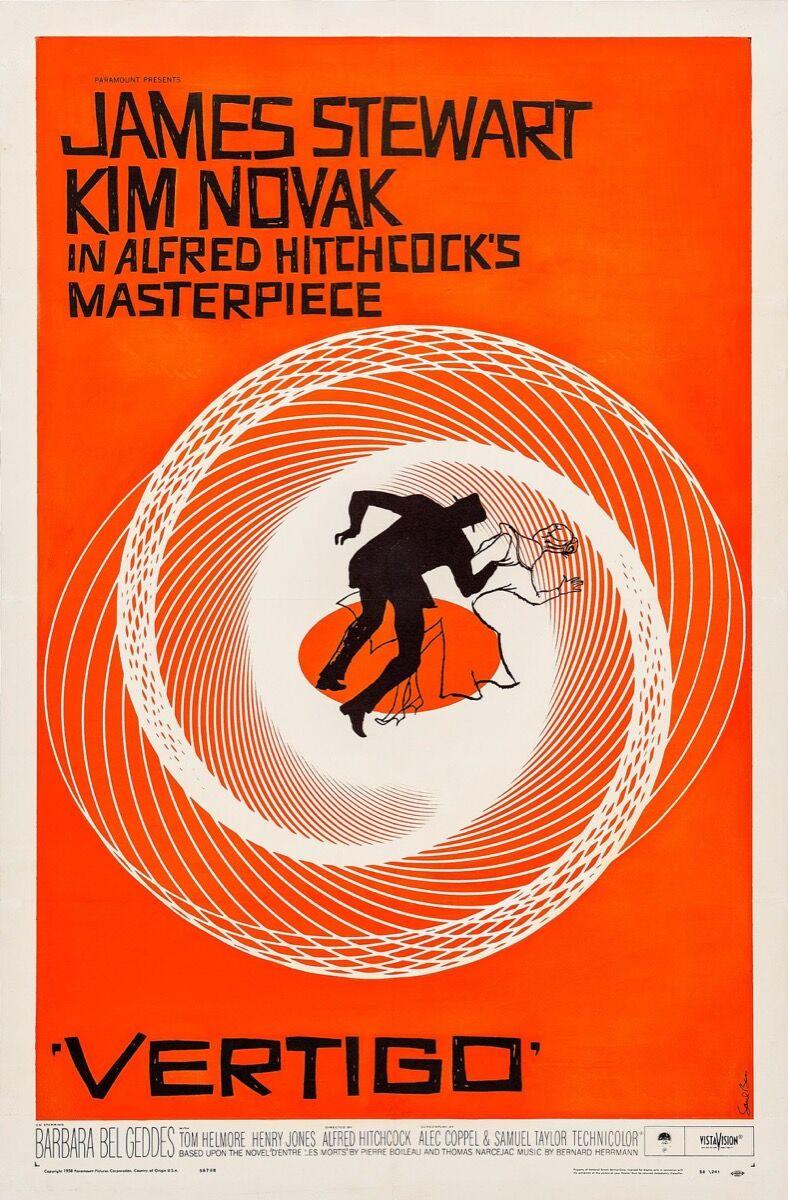Saul Bass, Vertigo film poster. Courtesy of The Saul Bass Poster Archive / FILMARTGALLERY.COM.