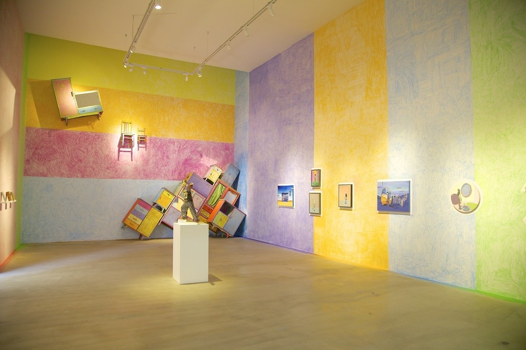 """Installation view of""""Artists at Play"""" at de Sarthe Gallery. Image courtesy of de Sarthe Gallery."""