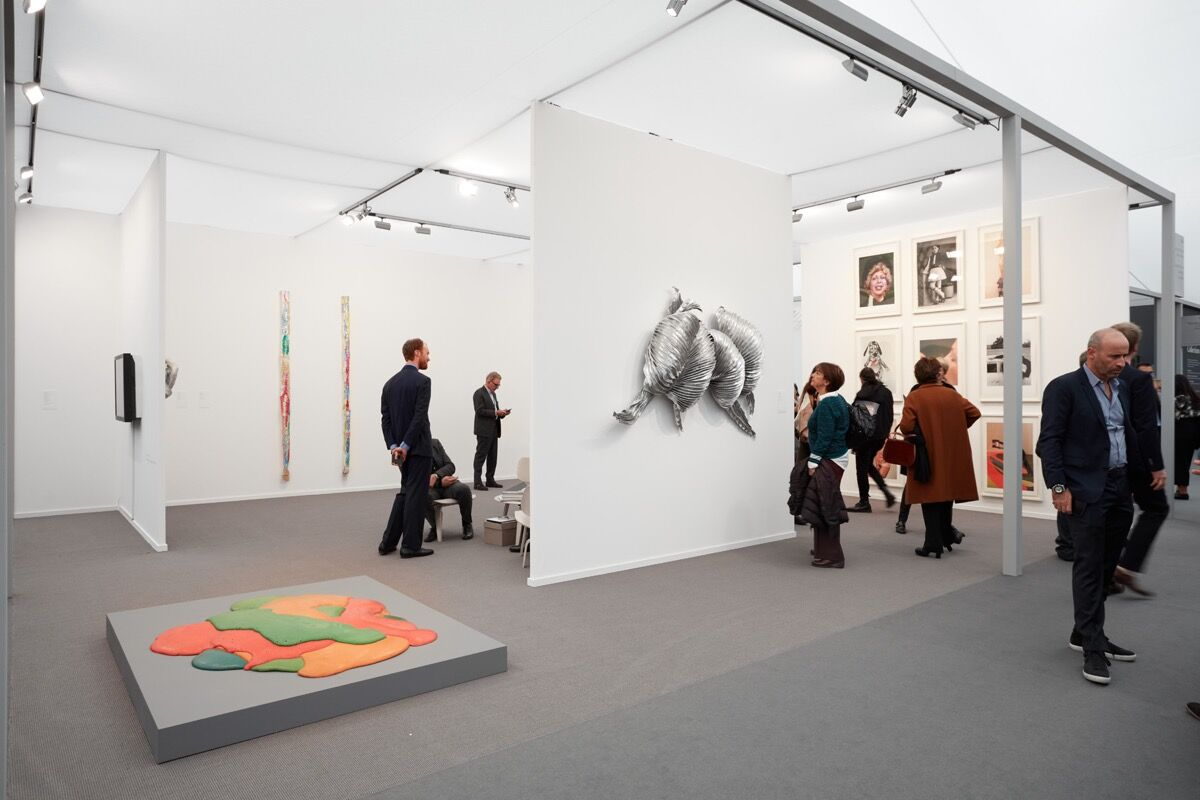 Installation view of Cheim & Read and Thomas Dane's booth at Frieze Masters, 2017. Photo by Tom Carter for Artsy.