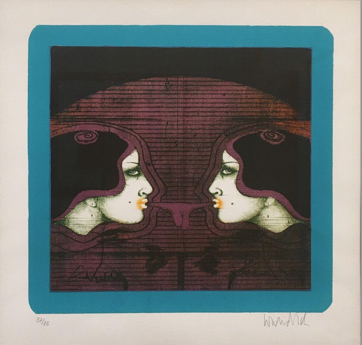 Paul Wunderlich, Bubblegum, 1967. Courtesy of The Redfern Gallery Ltd.