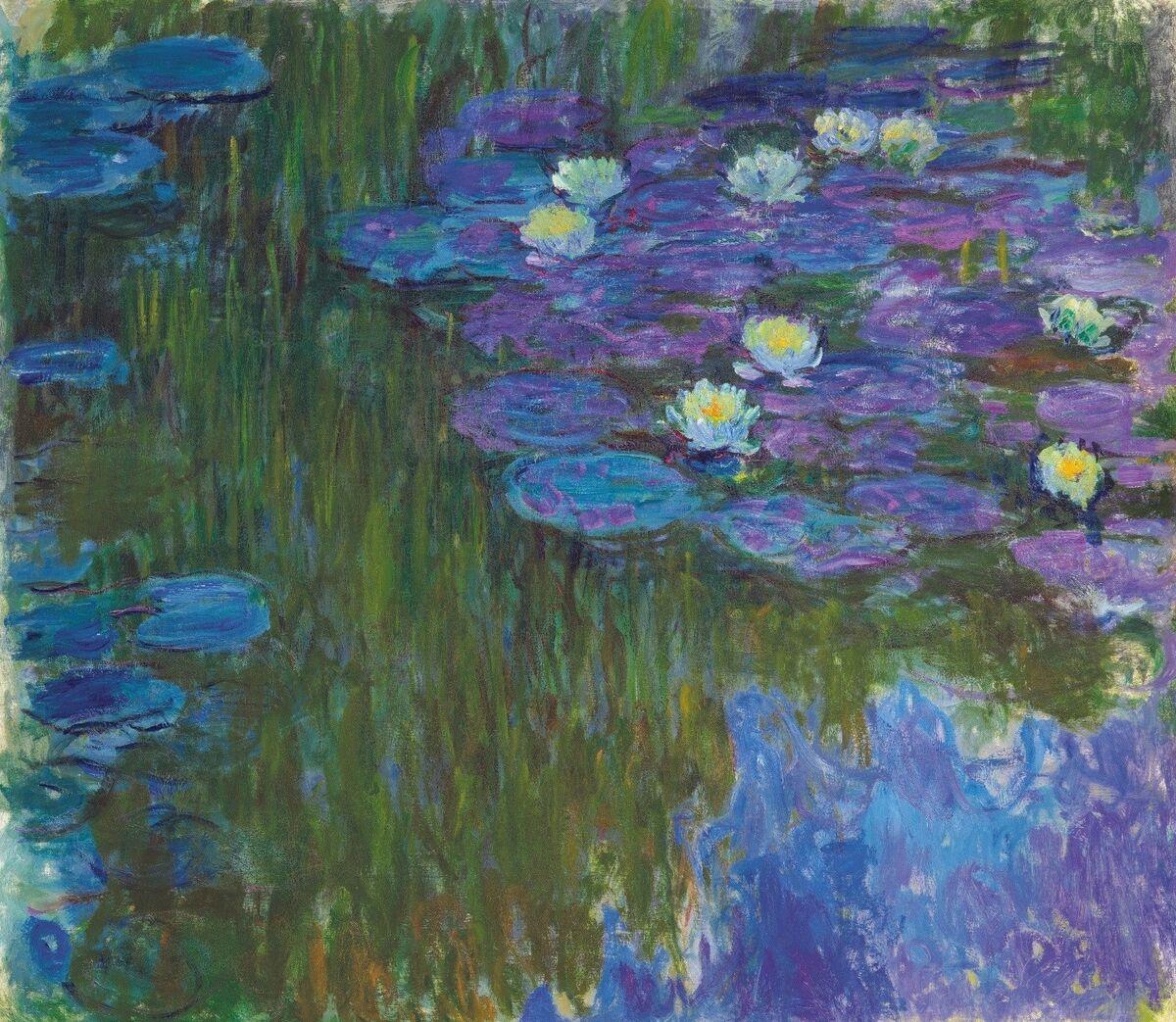 Claude Monet, Nymphéas en fleur, 1914-17. Courtesy of Christie's.