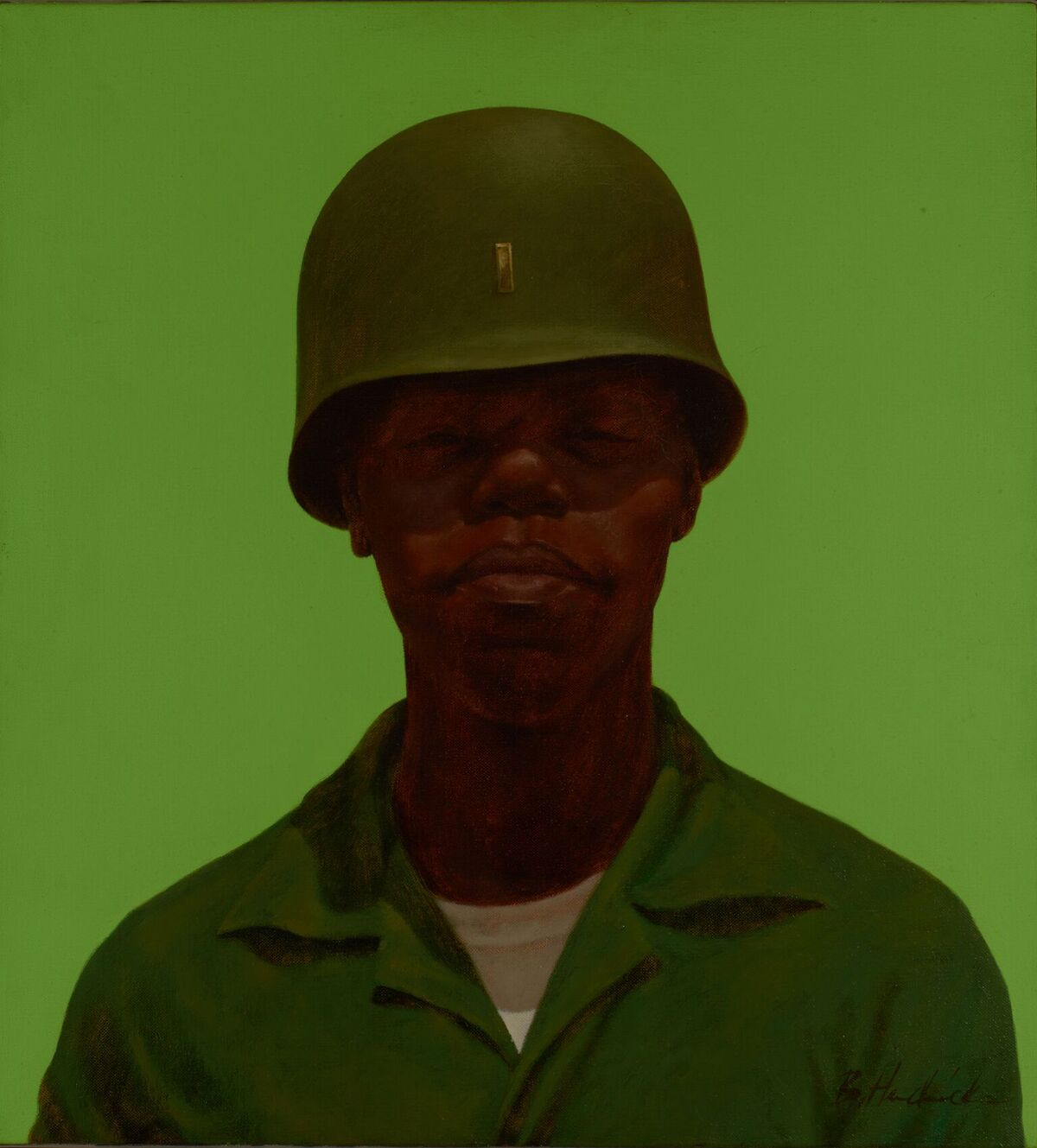 Barkley L. Hendricks, FTA, 1968. Courtesy of Bowdoin College Museum of Art.