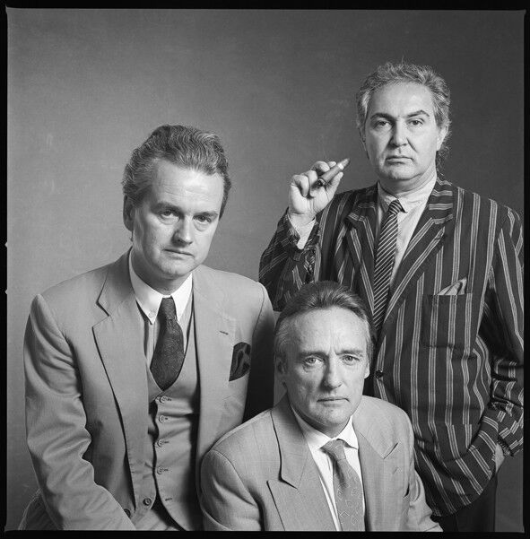 Hans Mayer, Dennis Hopper & Tony Shafrazi (Galerie Hans Mayer), 1990, courtesy of Galerie Hans Mayer