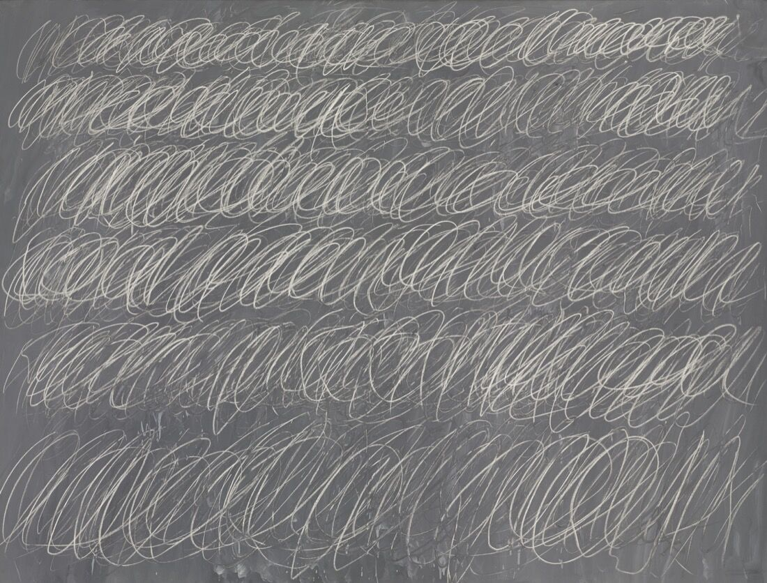 Cy Twombly,  Untitled [New York City], 1968. Price Realized: $70,530,000. Courtesy Sotheby's.