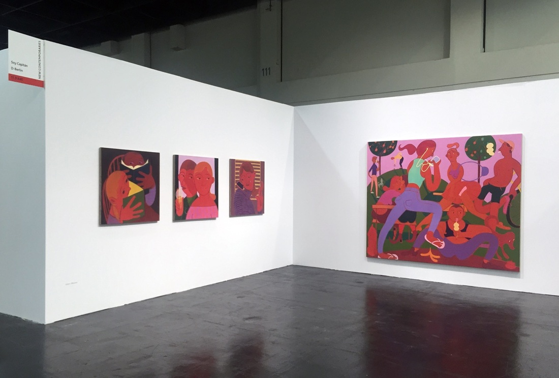 Installation view of Soy Capitán's booth at Art Cologne, 2016. Photo courtesy of Soy Capitán.