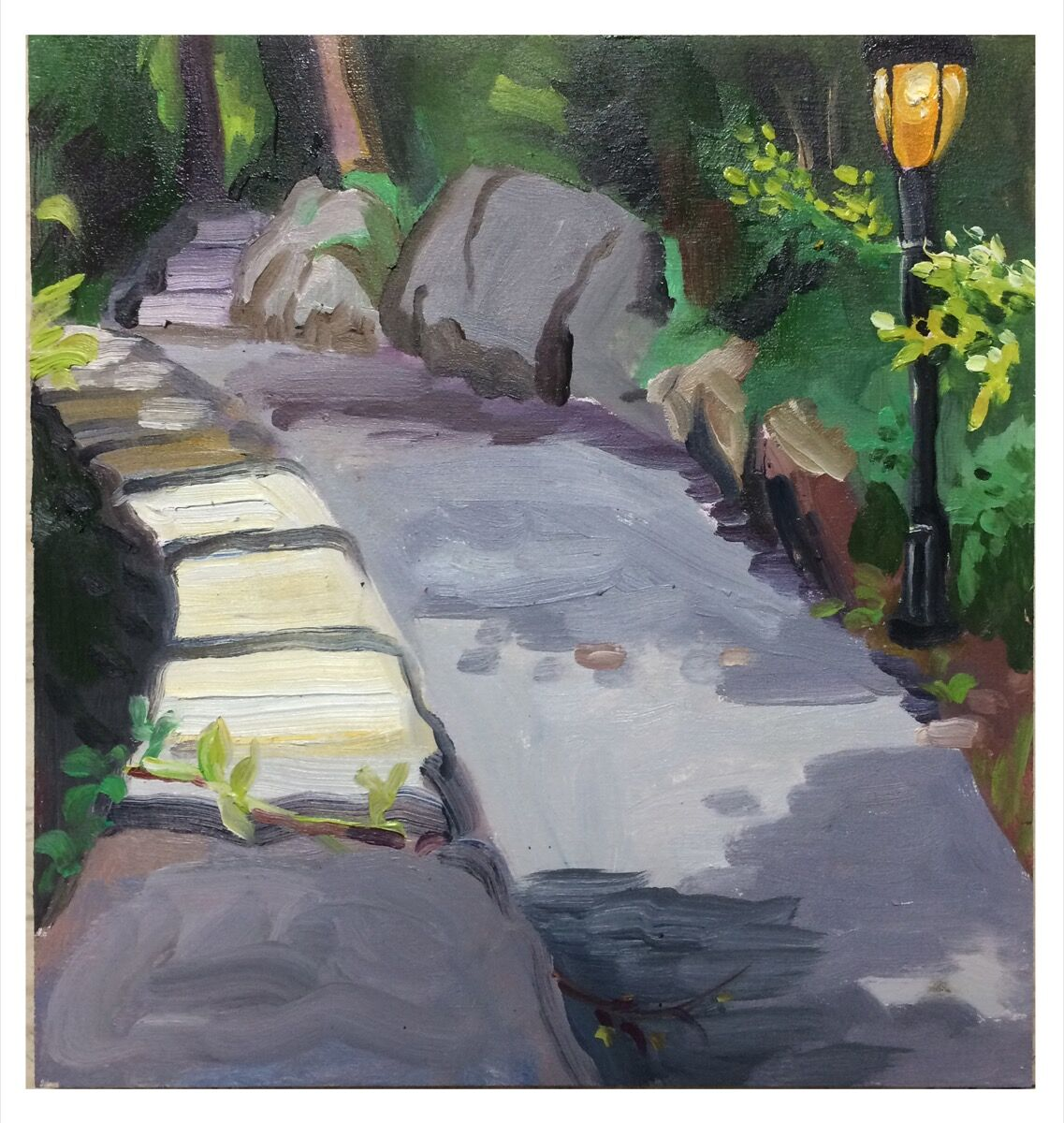 Melissa Brown, Fort Tryon Path, 2017. Courtesy of the artist.