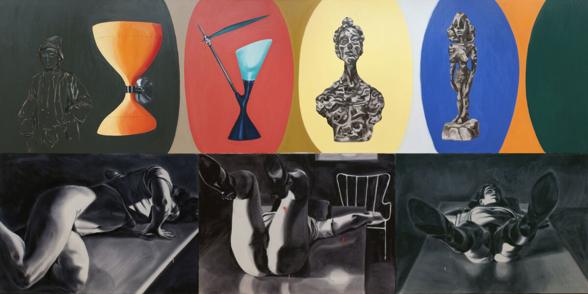 David Salle, Fooling with your Hair, 1985. Courtesy of the artist and Skarstedt Gallery.