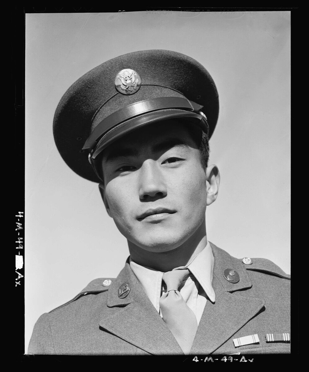 Ansel Adams, Jimmie Shohara, from the series Manzanar, 1943. Courtesy Library of Congress.