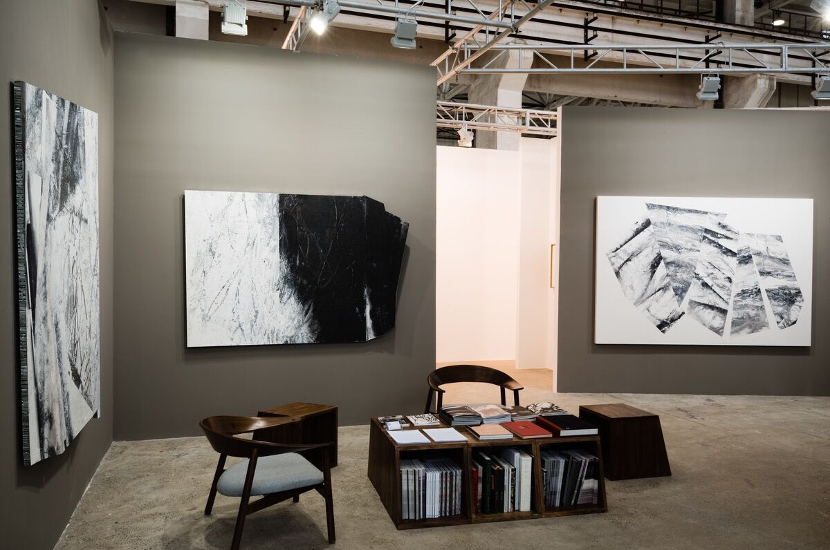 Installation view of Ink Studio's booth at West Bund Art & Design.