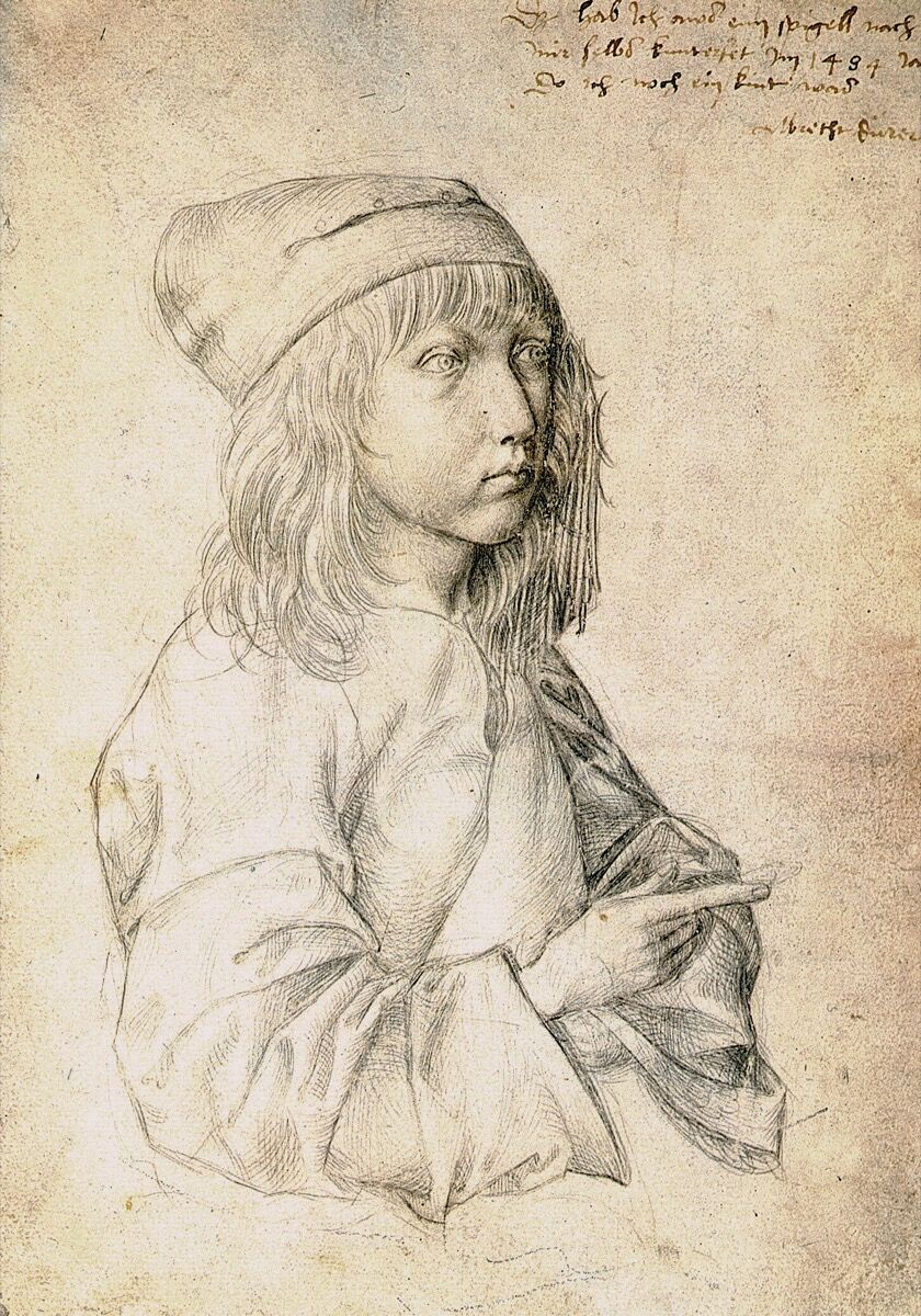 Albrecht Dürer, Self-portrait at the age of thirteen, 1484. Image via Wikimedia Commons.