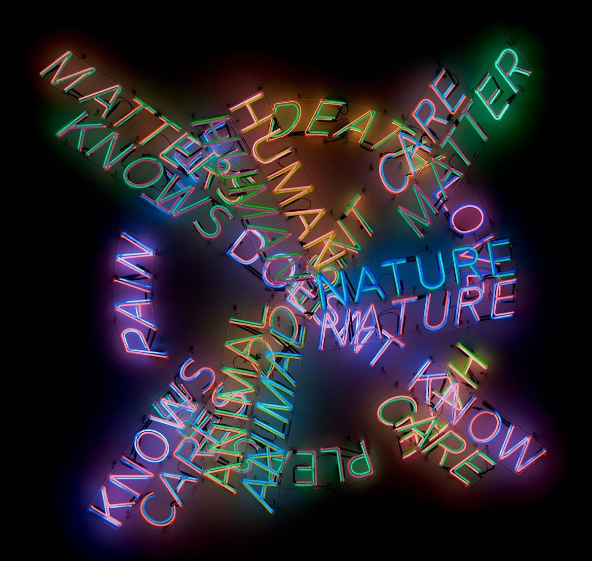 Bruce Nauman, Human Nature/Life Death/Knows Doesn't Know, 1983. © 2018 Bruce Nauman/Artists Rights Society (ARS), New York. Photo © Museum Associates/LACMA.