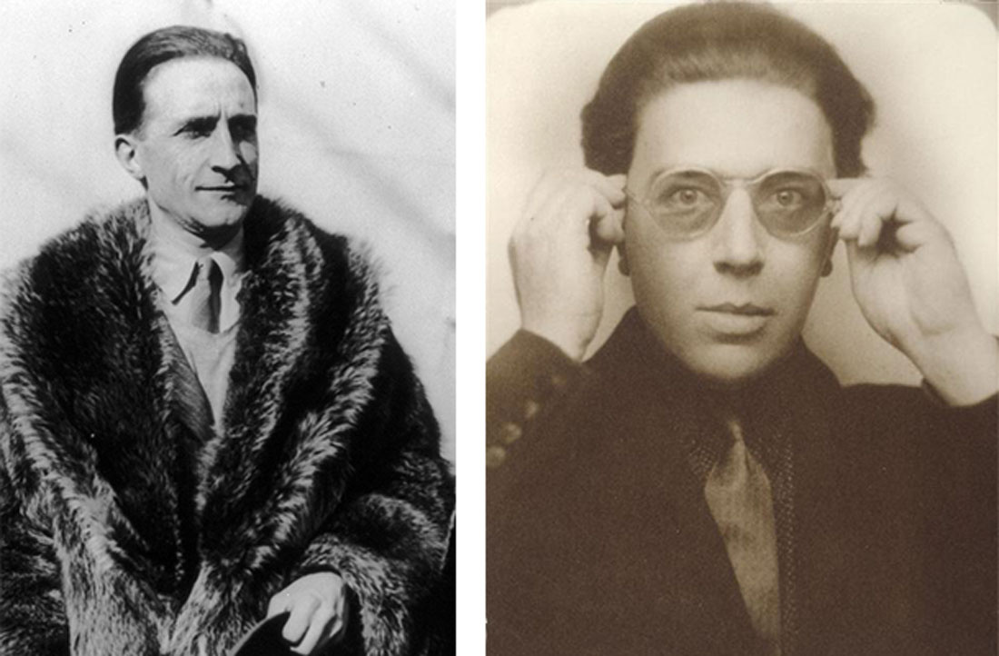 Left: Marcel Duchamp. Courtesy of the George Grantham Bain Collection (Library of Congress). Right:André Breton. Courtesy of the Centre Pompidou.