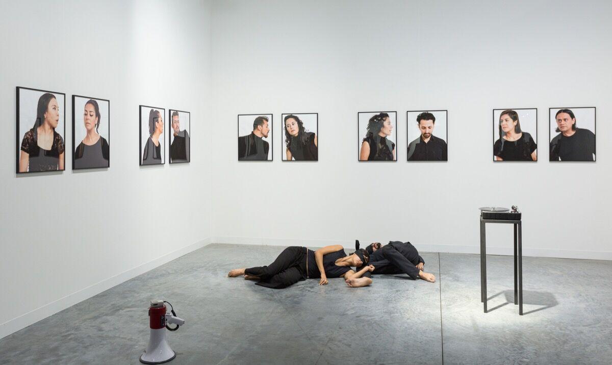 Installation view of Arredondo \ Arozarena's booth at Art Basel in Miami Beach, 2017. Photo by Alain Almiñana for Artsy.