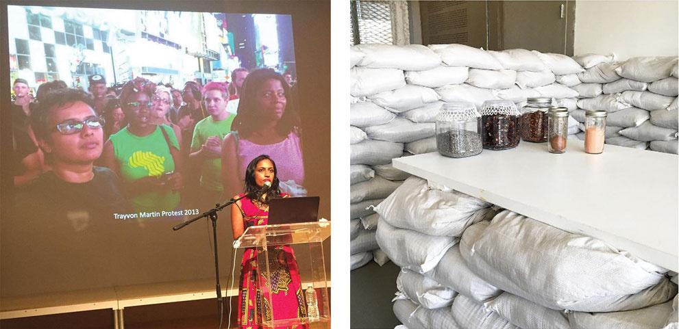 Left: Photo by @simoneyvetteleigh, via Instagram. Right: Photo by @newmuseum, via Instagram.