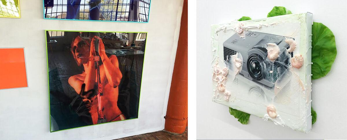 Alex Da Corte new pieces andTorben Ribe installation.