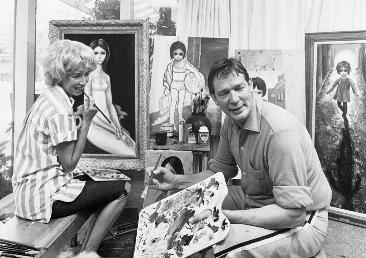 Walter and Margaret Keane. Photo by Bettmann, via Getty Images.