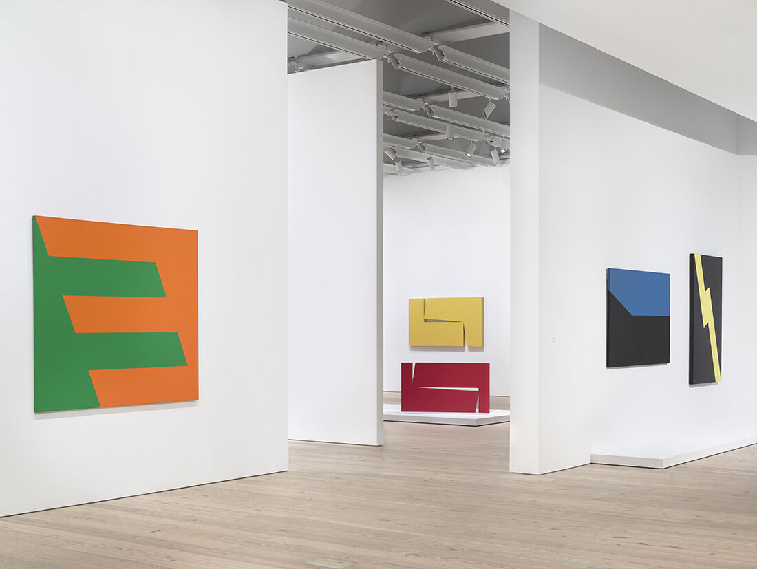 "Installation view of ""Carmen Herrera: Lines of Sight"" at Whitney Museum of American Art, New York, 2016. Photography by Ronald Amstutz, courtesy of Whitney Museum of American Art."