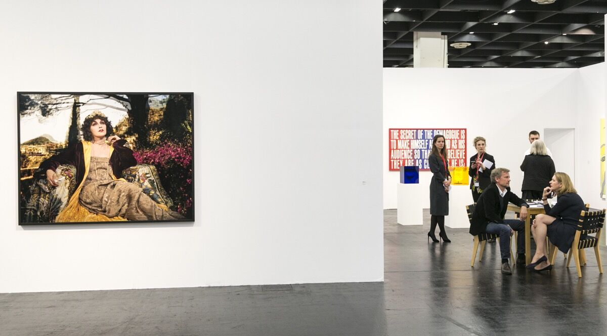 Installation view of Sprüth Magers's booth at Art Cologne, 2017. Courtesy of Art Cologne.