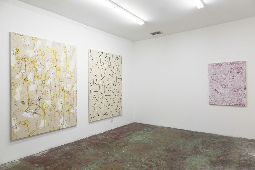 "Installation view of ""Michael Clifford: Playing Hands,"" Gallery Diet, Miami. Courtesy Gallery Diet and the artist."