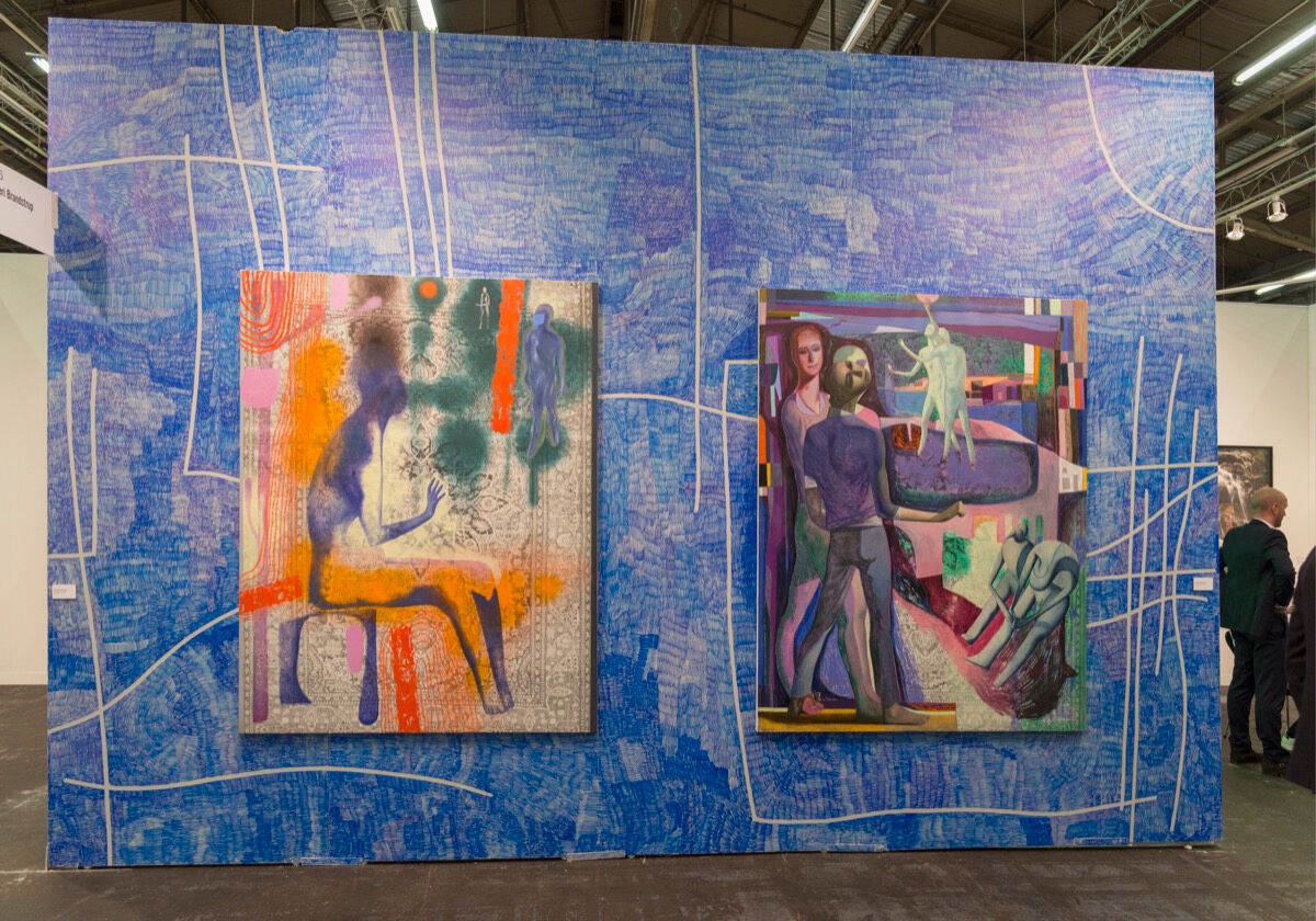 Installation view of Galleri Brandstrup's booth at The Armory Show, 2017. Photo by Adam Reich for Artsy.