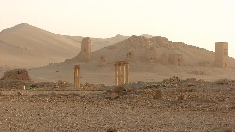 Photo of Palmyra by reibei, via Flickr. Until recently, the ancient city was occupied by ISIS, which reportedly looted pieces of cultural property.