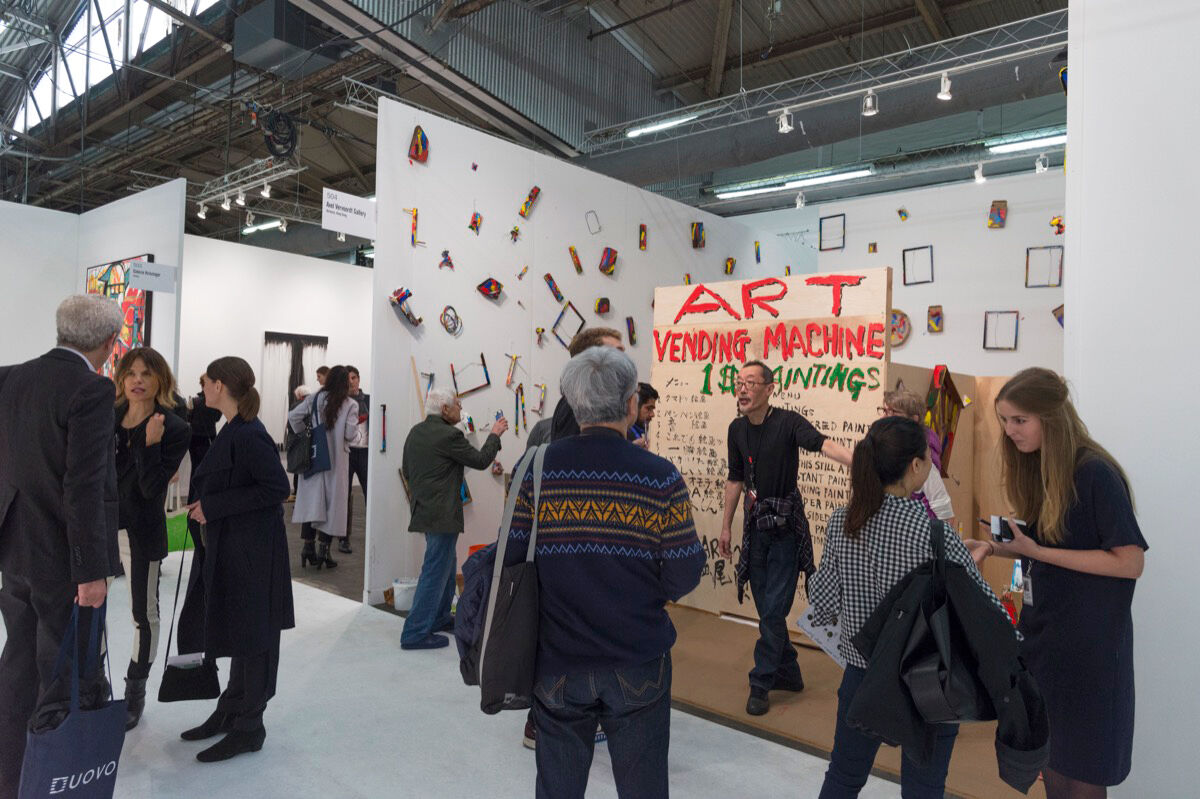 Installation view of Axel Vervoordt Gallery's booth at The Armory Show, 2017. Photo by Adam Reich for Artsy.