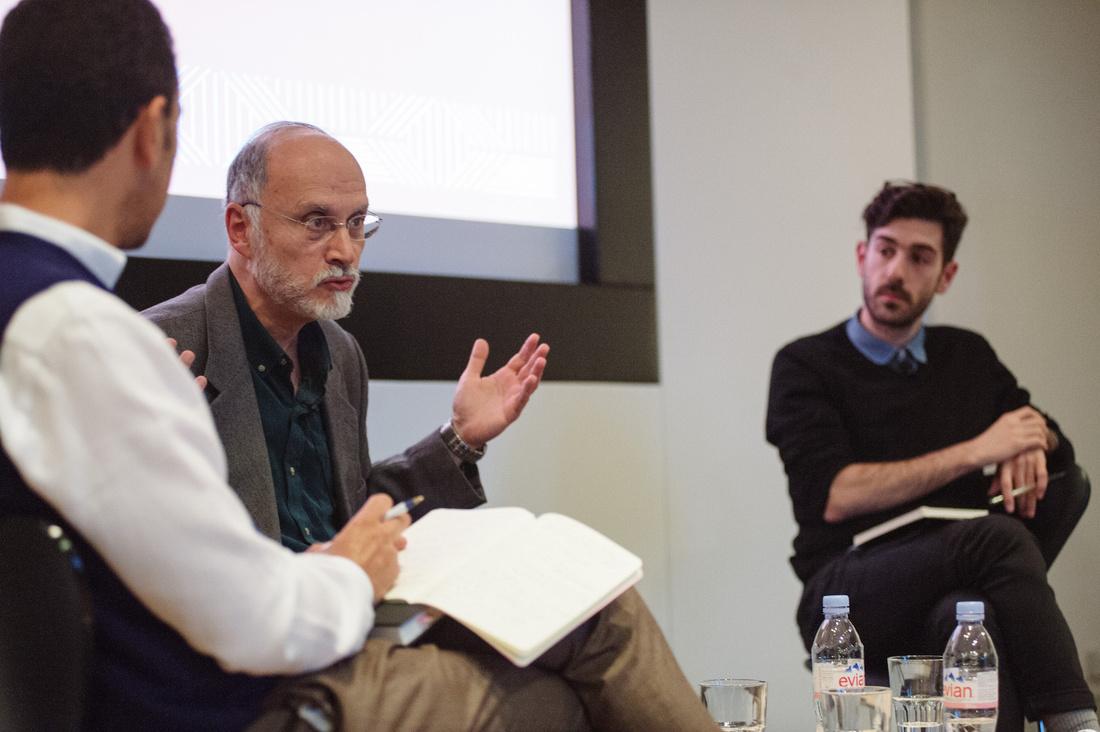 FORUM London 2015: Omar Berrada, Professor Gilbert Achcar and Dr Andrew Arsan © Benjamin Hoffman.