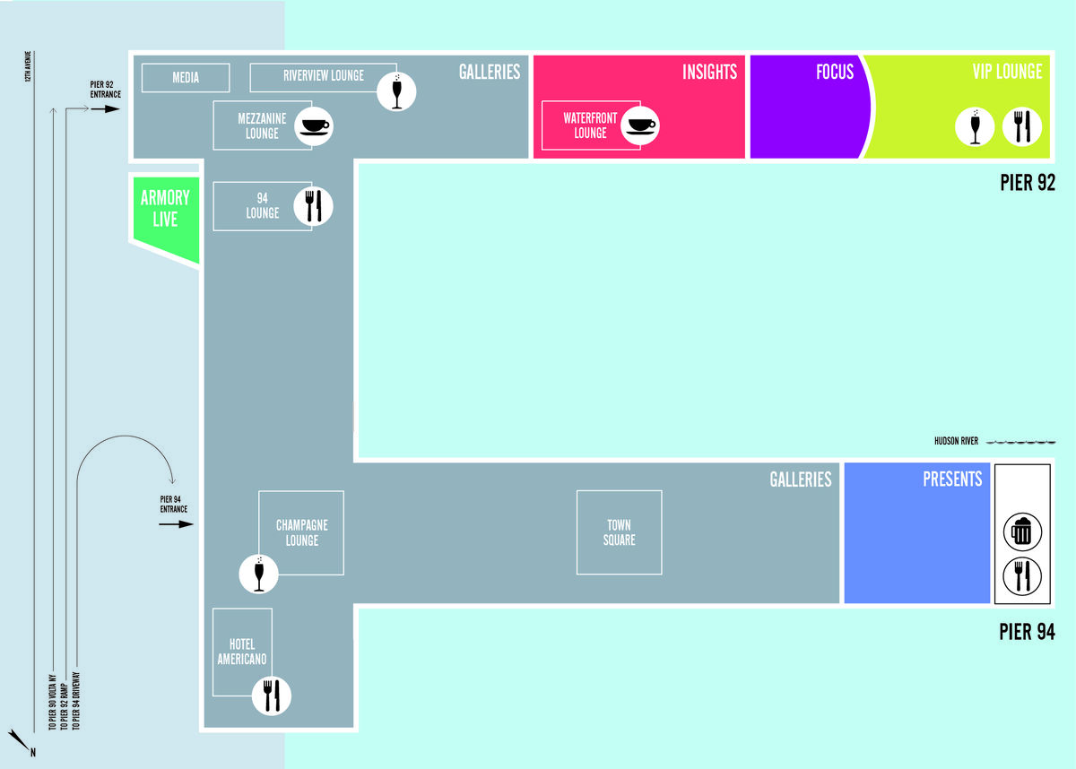 A new floorplan will greet visitors to The Armory Show in March 2017. Image courtesy of The Armory Show.