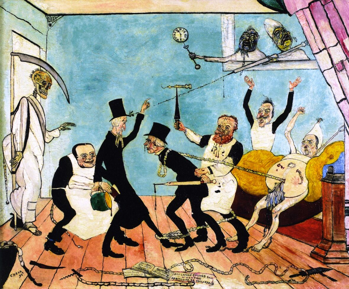 James Ensor, The Bad Doctors, 1895. Photo via The Athenaeum.