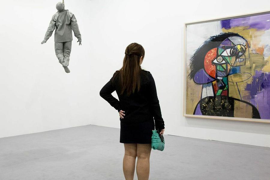 Skarstedt Gallery's Booth at Art Basel in Hong Kong 2015. CourtesyArt Basel in Hong Kong, MCH Messe Schweiz (Basel) AG.