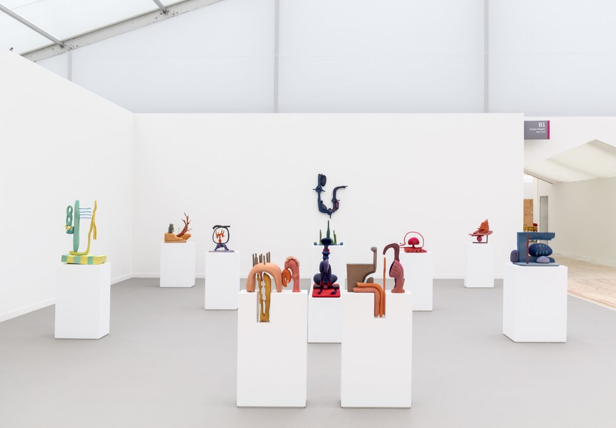 Installation view of Casey Kaplan's booth at Frieze New York, 2019. Photo by Dawn Blackman. Courtesy of the artist and Casey Kaplan.