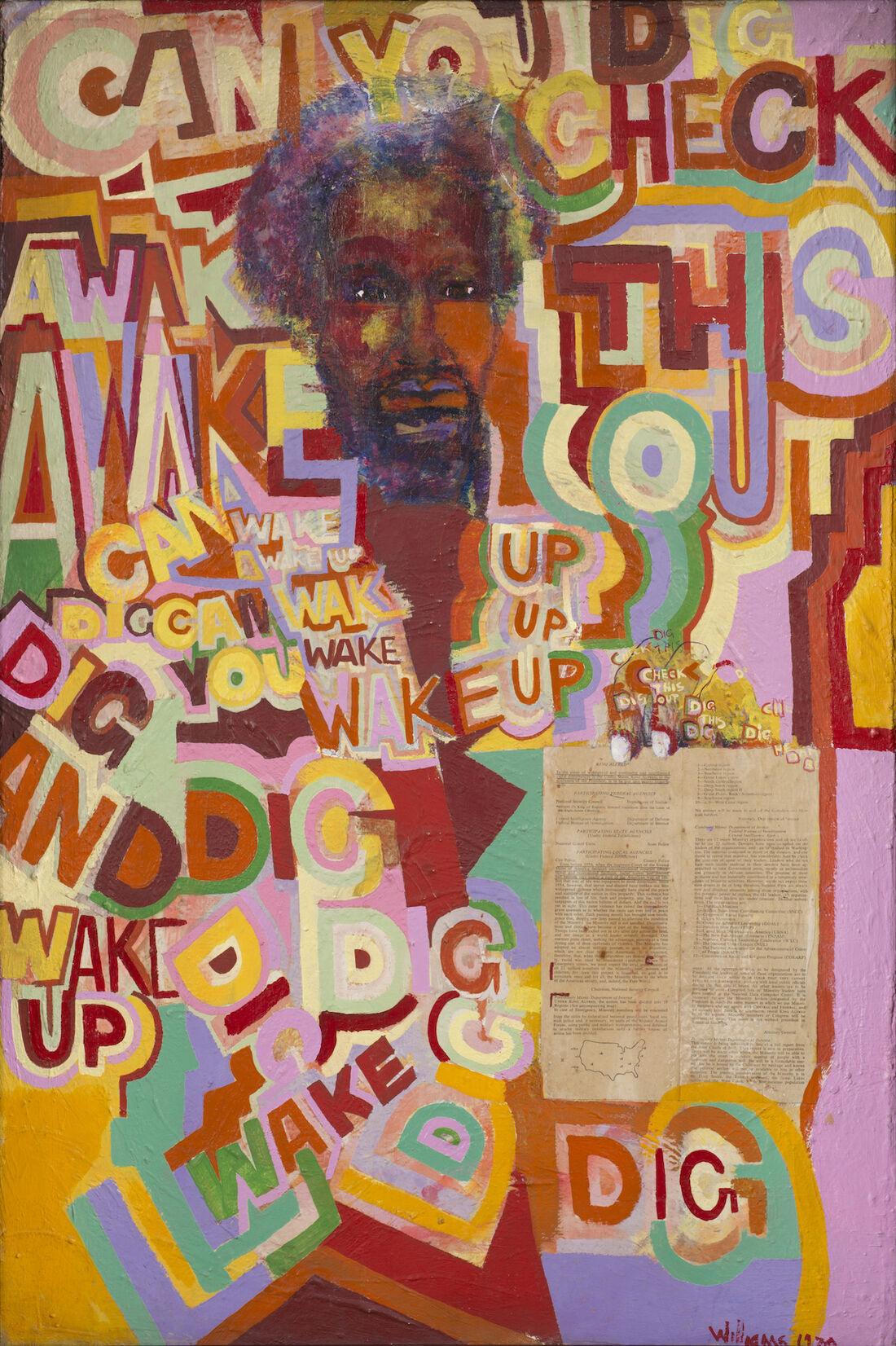 Work by Gerald Williams, founding member of AfriCOBRA. Image courtesy of the artist and Kavi Gupta Gallery, Chicago.