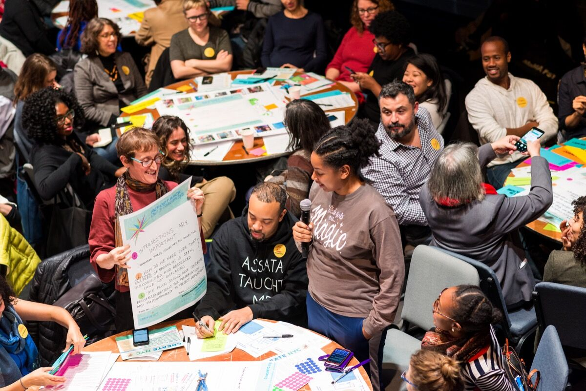 Brooklyn Borough-Wide Workshop. Image courtesy of Hester Street Collaborative and Create NYC.