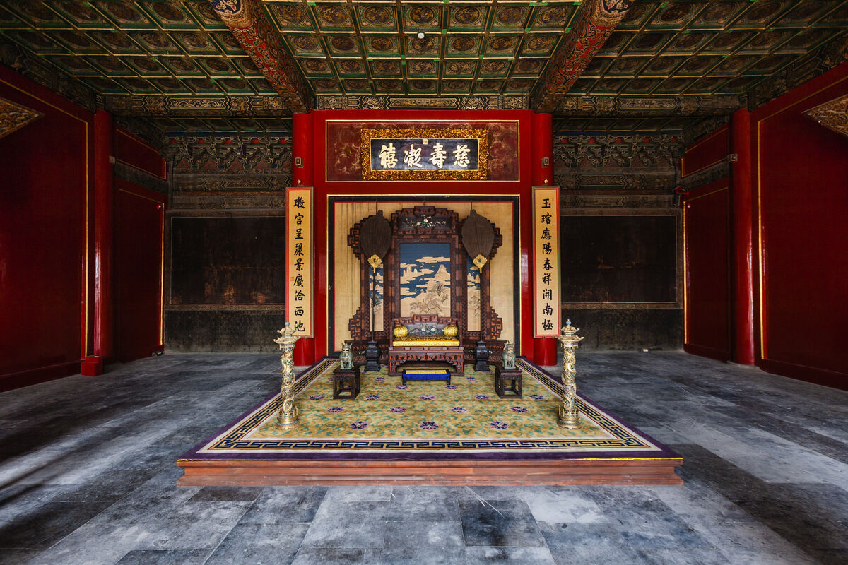 Ritual space in the Main Hall of the Palace of Longevity and Health. Courtesy of the Palace Museum, Beijing. © The Palace Museum.