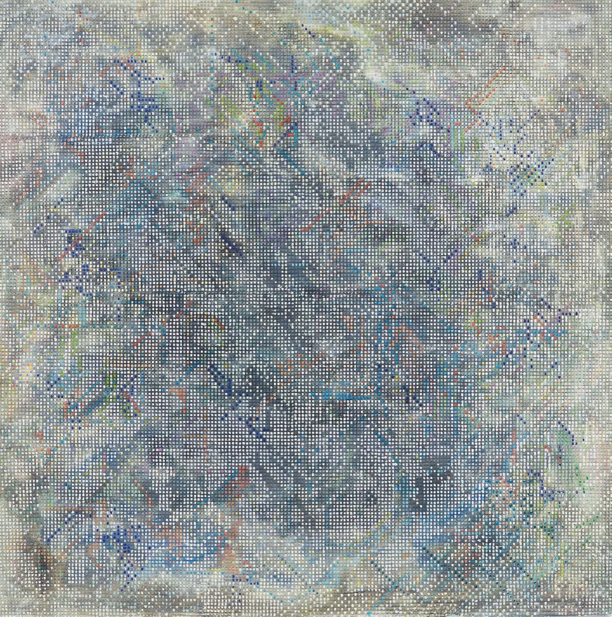 Jack Whitten, Ancient Mentor I, 1985. Courtesy of Sotheby's.