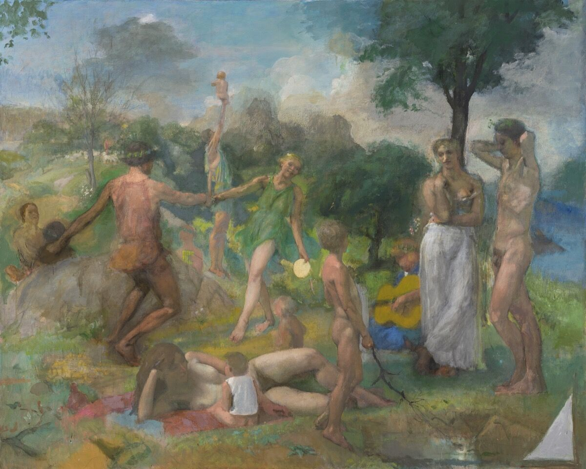 Lennart Anderson, Idyll 3 (pre- and post-macular), 1979–2011. © Estate of Lennart Anderson. Courtesy of Leigh Morse Fine Arts.