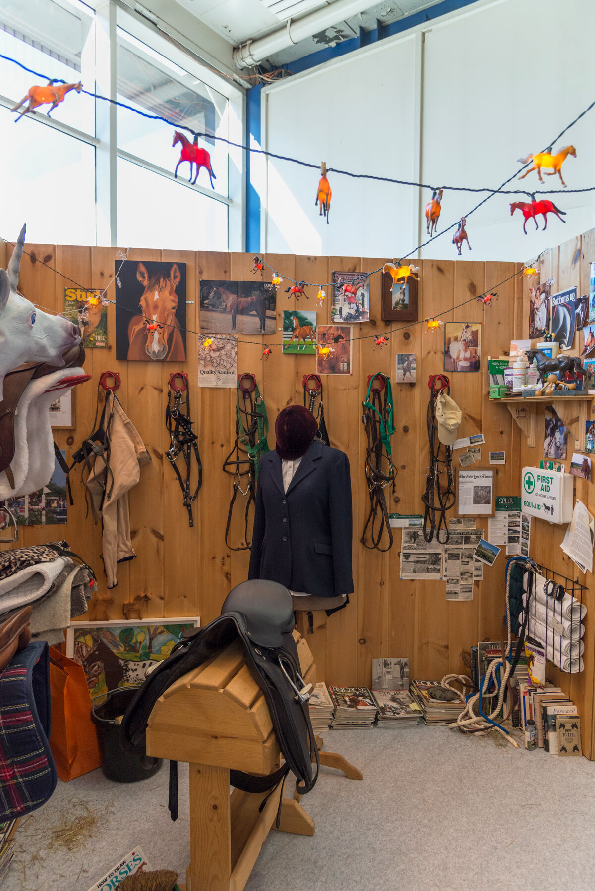 Installation view of Patricia Cronin, Tack Room, 1997–98, at The Armory Show, 2017. Photo by Adam Reich for Artsy.