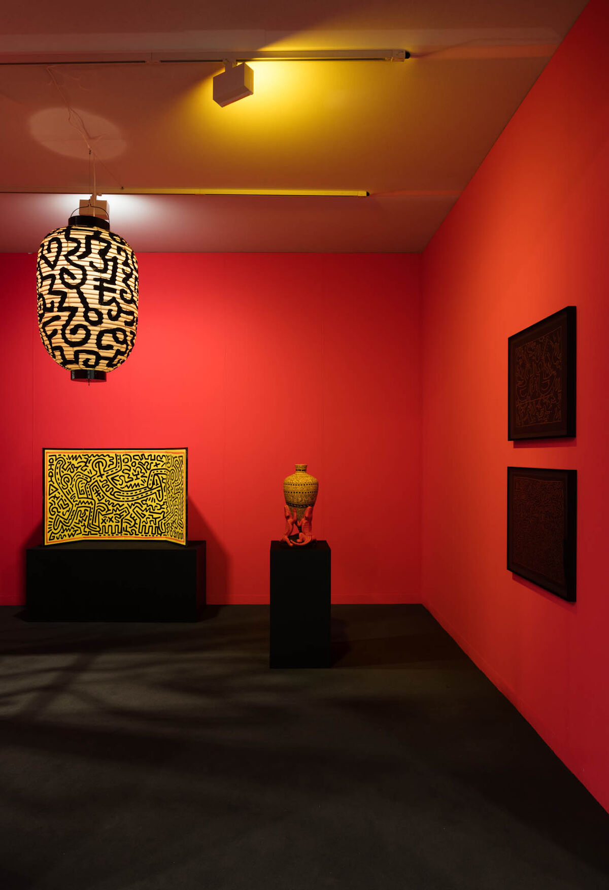 Installation view of Gladstone Gallery's booth at Art Basel in Miami Beach, 2018. © Keith Haring Foundation. Courtesy Keith Haring Foundation and Gladstone Gallery, New York and Brussels. Photography by Andrea Rosetti.