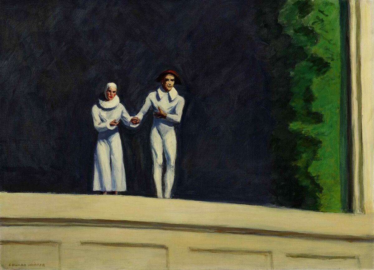 Edward Hopper, Two Comedians, 1966. Courtesy of Sotheby's.