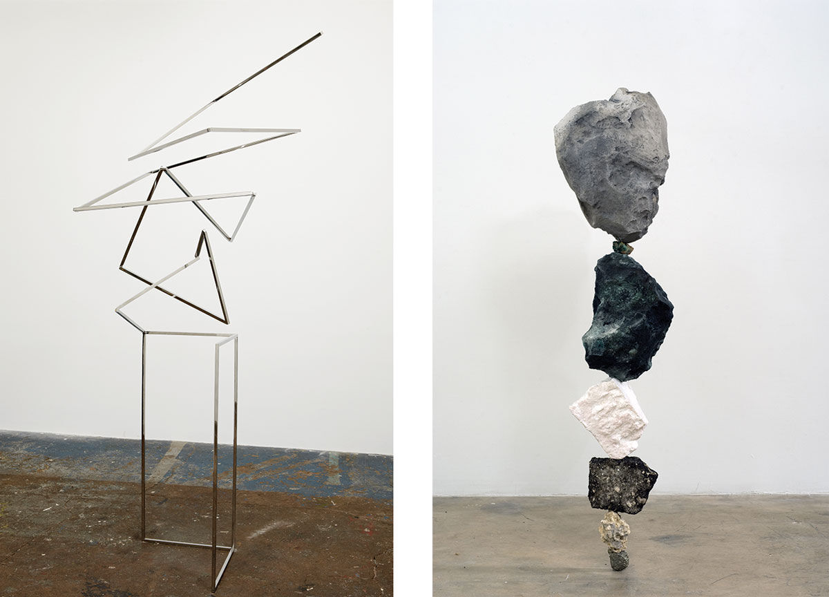 Left: Martin Oppel, Untitled (Squiggle #1 w optional Googly Eyes), 2011. Right: Martin Oppel, Untitled (Strata Fiction A), 2008. Images courtesy of the artist.
