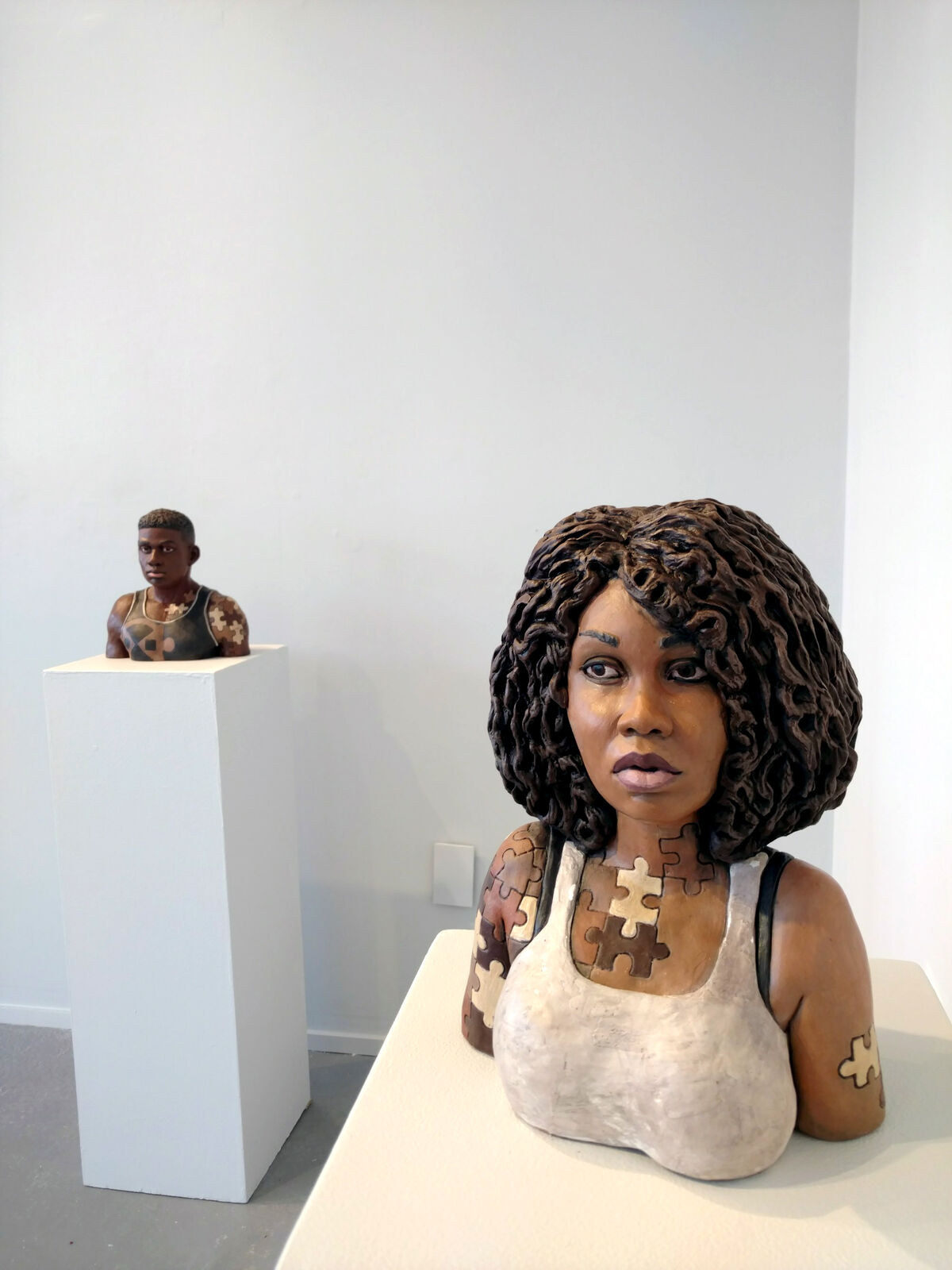 "Works by Nathan Murray in ""THEY"" at Clay Art Center, Port Chester, New York."