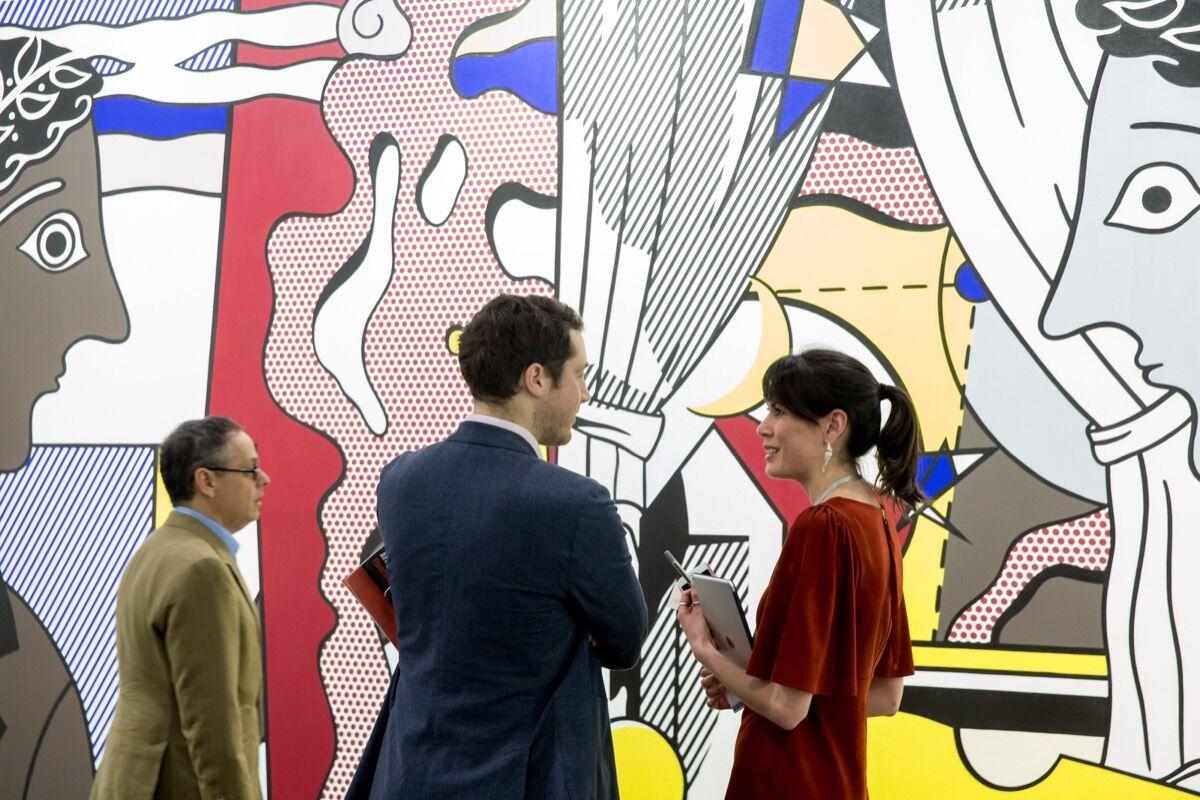 Installation view of Lévy Gorvy's booth at Art Basel in Hong Kong, 2017. Courtesy of Art Basel in Hong Kong.