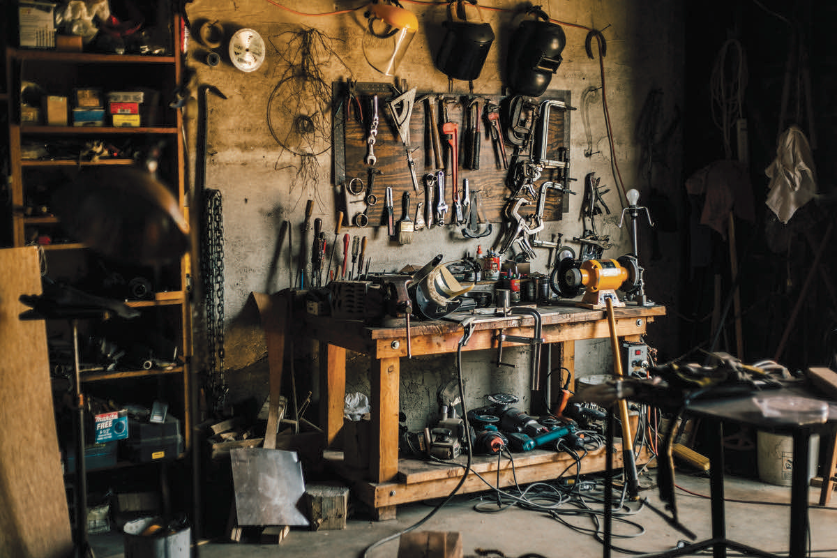 Wendell Dayton's studio shop, 2016. Photo by Bryan David Hall. Courtesy of the artist.