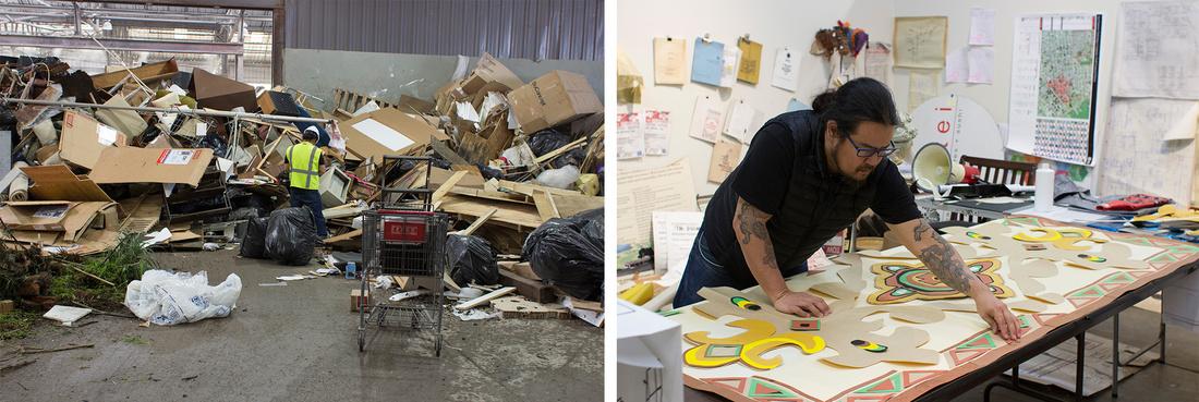 Artist Weston Teruya at Recology San Francisco. Courtesy of Recology San Francisco.