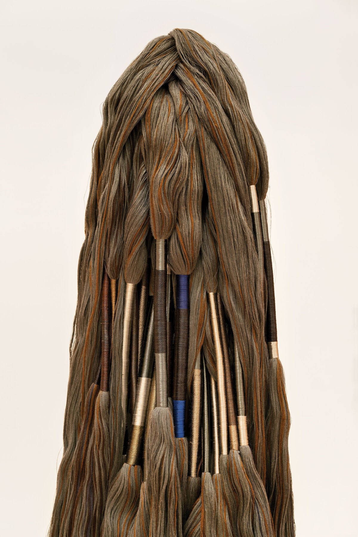 Sheila Hicks, Menhir, 1998–2004. Photo by Zachary Balber. Courtesy of The Bass, Miami Beach.