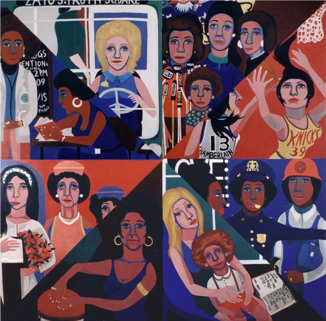 Faith Ringgold, For the Woman's House, 1971. Image courtesy Faith Ringgold and ACA Galleries, New York.