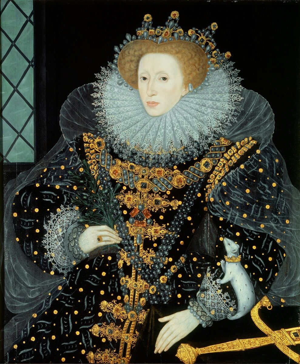 William Segar, The Ermine Portrait, 1585. Image via Wikimedia Commons.
