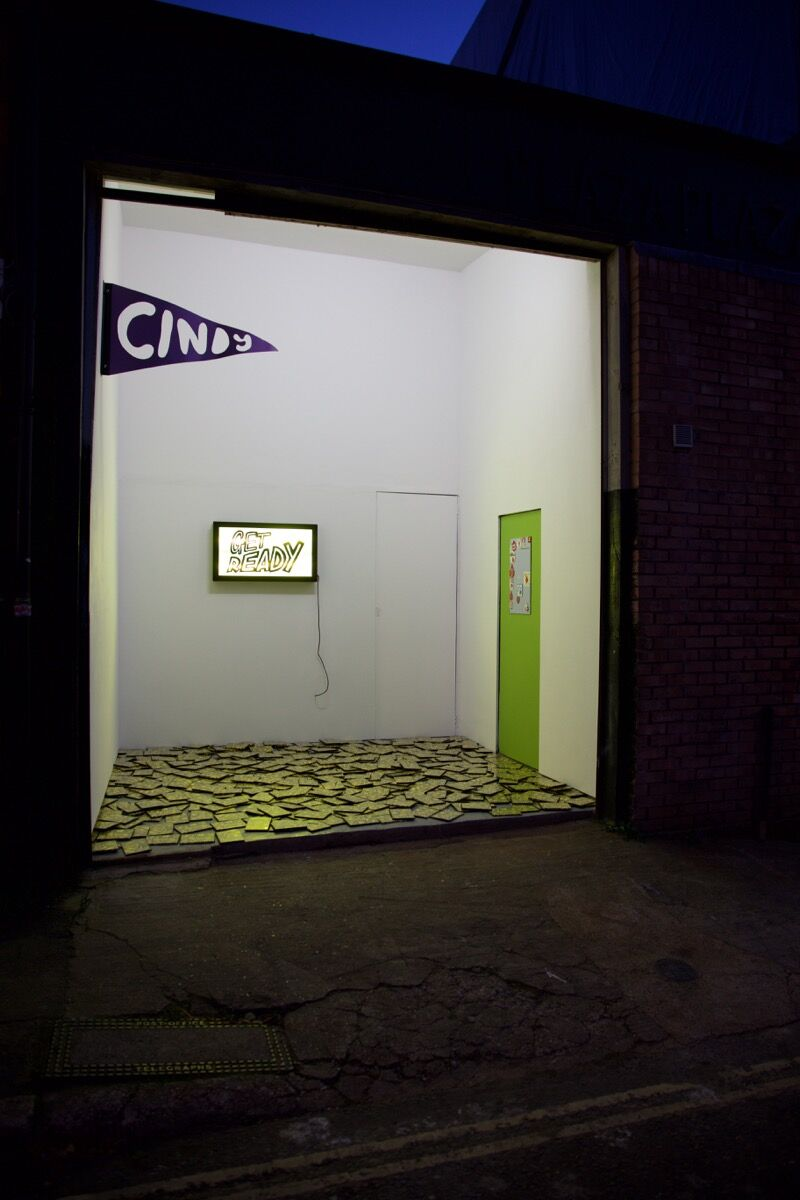 Installation view of works by Sam Venables at PLAZAPLAZA. Courtesy of PLAZAPLAZA.