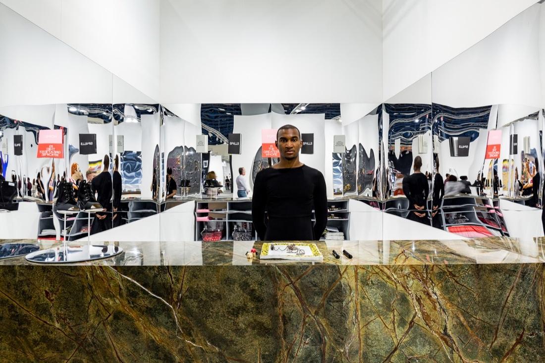 Installation view of work by Irena Haiduk at Kavi Gupta's booth at Art Basel in Miami Beach, 2016. Photo by Alain Almiñana for Artsy.
