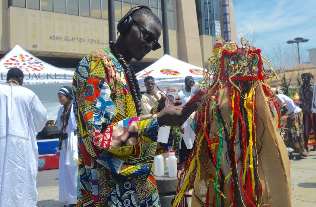 Dioko at Bamba Day Festival with Elvira Clayton, Harlem. Photo courtesy of Elvira Clayton.